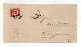 Italia - Regno - 1876 - Francobollo Di Servizio Da 20 Centesimi Su Busta - Senza Contenuto - (FDC16089) - Servizi