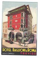 CARTOLINA POSTALE CARTE POSTALE  HOTEL BAGLIONI & ROMA TREVISO - Pubblicitari