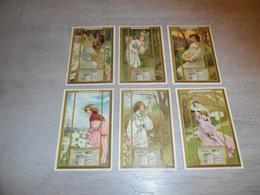 LIEBIG ( 736 )  S 907  Série De 6 Chromos :  Au Printemps   Art Nouveau - Langue Française - Liebig
