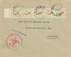374/29 - Enveloppe IMPRIME TP Petit Sceau V 5 X 2 C  BRUGGE 1945 - Cachet Vlaamse Bond Postzegelverzamelaars - 1935-1949 Klein Staatswapen