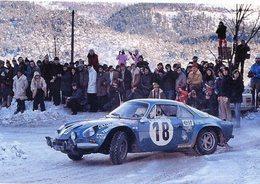 Alpine Renault A110 1800  -  Jean-Claude Andruet/'Biche' -  Rallye Monte-Carlo 1973  -  15x10 PHOTO - Rally