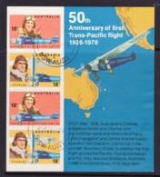 Australia 1978 Trans-Pacific Flight Anniversary Minisheet Used - 1966-79 Elizabeth II