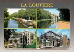 Belgique - La Louvière - Le Canal - Multivues - Péniche - Carte Neuve - Voir Scans Recto-Verso - La Louviere