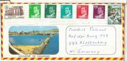 CANARIAS  SOBRE TURISTICO SELLOS BASICA  SALMON FISH - 1931-Hoy: 2ª República - ... Juan Carlos I