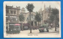 64 - BIARRITZ - LES ABORDS DE LA GARE - FLEURISTE, PATISSERIE, SOCIÉTÉ GÉNÉRALE.. - PRÉCURSEUR - 1904 - Biarritz