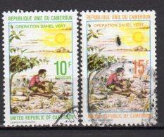 Cameroun Yvert N° 627/628 Oblitéré Opération Sahel Vert 2 Timbres Lot 2-506 - Camerun (1960-...)