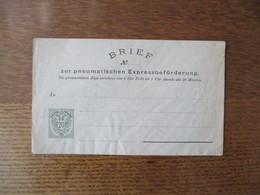 BRIEF ZUR PNEUMATISCHEN EXPRESSBEFÖRDERUNG 20 Kr. KAIS. KÖNIGI  OESTERR.POST - Autres