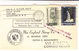 Dominican Republic / Diplomatic Mail / U.S. / D.C./ Waterfalls / Airmail - Dominicaine (République)