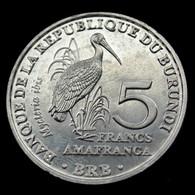 Burundi 5 Francs 2014. Km27 UNC Coin Animal Bird- Mycteria Ibis - Burundi