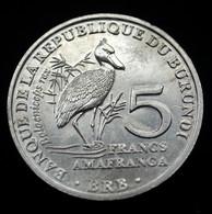 Burundi 5 Francs 2014. Km30 UNC Coin Animal Bird- Balaeniceps Rex - Burundi
