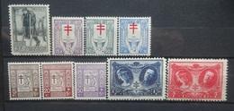 BELGIE  1923 -26     Nr. 220 / 234 - 236 / 240 - 244     Postfris **     CW  26,00 - Belgien