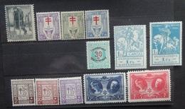BELGIE  1923 -26     Nr. 220 / 234 - 236 / 237 - 239 / 240 - 244     Scharnier *      CW  21,00 - Belgien