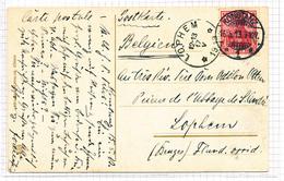 378/29 - Carte-Vue TP Germania KONSTANZ 1913 Vers Cachet RELAIS à Etoiles LOPHEM - Prieur Abbaye St André , Dom Otten - Poststempels/ Marcofilie