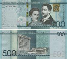 Dominicana. Banknote 500 Pesos. 2017. UNC. Memorable - Repubblica Dominicana
