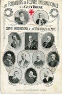 1381. CPA SUISSE GENEVE. FONDATEURS DE LA CROIX-ROUGE 1914 - Red Cross