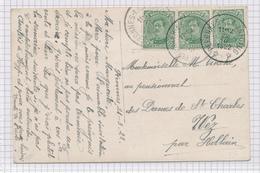 381/29 - Carte Fantaisie TP Petit Albert Cachet RELAIS à Etoiles PERONNES Lez ANTOING 1922 Vers WEZ Par HOLLAIN - Poststempels/ Marcofilie
