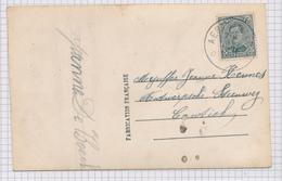 382/29 - Carte Fantaisie TP Petit Albert Cachet RELAIS à Etoiles AERTSELAER 1921 Vers CONTICH - Poststempels/ Marcofilie
