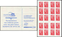 CARNETS (N°Cérès Jusqu'en1964) -  4197-C7    Beaujard, TVP Rouge, Carnet DAB, PHOSPHO à CHEVAL Sur Les 4 Ex. Du Bas, TB - Definitives