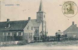 384/29 -  Carte-Vue JONCKERSHOVE Kerk TP Casqué Cachet RELAIS à Etoiles WOUMEN 1920 Vers BXL - Poststempels/ Marcofilie