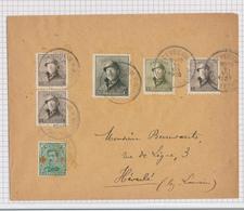 385/29 -  Enveloppe TP Casqué + Croix Rouge Cachet RELAIS à Etoiles BEVECOM BEAUVECHAIN 1920 Vers HEVERLE - Poststempels/ Marcofilie