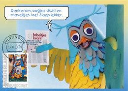 D37481 CARTE MAXIMUM CARD RR 2009 NETHERLANDS - DUTCH OWL FABELTJESKRANT FROM TELEVISION SERIES CP ORIGINAL - Hilversum