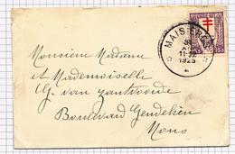 386/29 -  Enveloppe Carte De Visite TP 234 Antituberculeux Cachet RELAIS à Etoiles MAISIERES 1925 Vers MONS - Poststempels/ Marcofilie