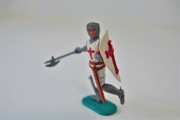 Timpo : CRUSADER WITH BATTLE AXE - 1960-70's, Made In England, *** - Figurines