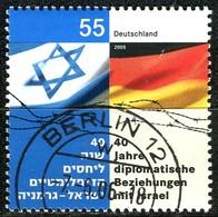 BRD - Mi 2498 - OO Gestempelt (F) - 55C         Diplomatische Beziehungen Mit Israel - Gebruikt