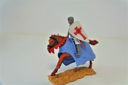 Timpo : CRUSADER RIDING HORSE  WITH SPEAR - 1960-70's, Made In England, *** - Figurines