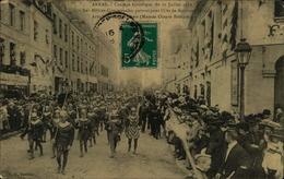 N°2045 RRR DID 4 ARRAS CORTEGE HISTORIQUE DU 17 JUILLET 1910 LES MILICES COMMUNALES PARTANT POUR L OST - Arras