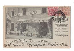 CARTOLINA POSTALE CARTE POSTALE  HOTEL MILAN - Pubblicitari