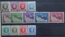 BELGIE  1927     Nr. 245 - 248 / 249 - 253 / 254 - 257    Scharnier *   CW  21,00 - Belgien