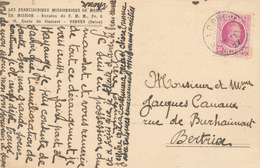 387/29 - Carte-Vue TP Houyoux Cachet RELAIS à Etoiles LOPHEM 1927 Vers BERTRIX - Missionnaires à FEZ Maroc - Poststempels/ Marcofilie