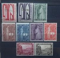 BELGIE  1928     Nr.  258 - 266    Scharnier *    CW  90,00 - Belgien