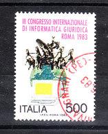 Italia   - 1983. Informatica Giuridica. Quadriga E Pc. Legal Informatics. Quadriga And Computer. Beautiful Obliteration - Informatica