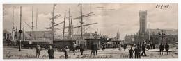- CPA OSTENDE (Belgique) - La Gare Et Les Bassins 1903 (belle Animation, Carte Panoramique) - Edition H. N. 705 - - Oostende