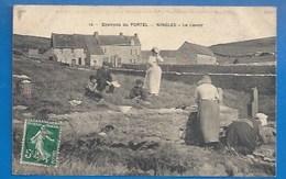 62 -NINGLES - PRÈS LE PORTEL - FEMMES AU LAVOIR - 1909 - Le Portel