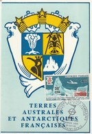 REUNION Carte Maximum Yvert 380 Expéditions Polaires Saint Denis 20/10/1968 - Reunion Island (1852-1975)