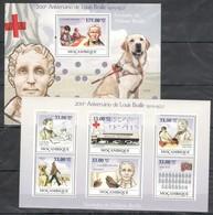 T1330 2009 MOCAMBIQUE FAMOUS PEOPLE ELVIS LOUIS BRAILLE ALFABETO BRAILLE 1SH+1BL MNH - Croce Rossa