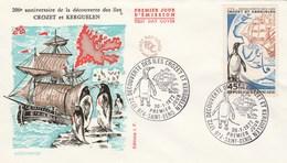 REUNION FDC Yvert 407 Découverte Des Iles Crozet Et Kerguelen Saint Denis 30/1/1972 - Reunion Island (1852-1975)