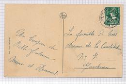 391/29 - Carte-Vue BELLEFONTAINE Procession TP Mercure Cachet RELAIS à Etoiles ( Pleines !! ) PETIT-FAYS 1936 - Poststempels/ Marcofilie