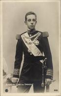 Cp Roi Alfons XIII. Von Spanien, Standportrait In Uniform, RPH 5132 - Familles Royales