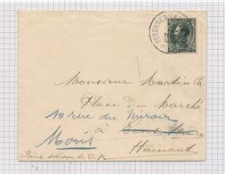 392/29 - Enveloppe TP Col Fermé Cachet RELAIS à Etoiles PERONNES Lez ANTOING 1935 Vers LENS , Réexpédiée MONS - Poststempels/ Marcofilie