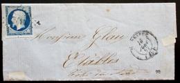 TIMBRE 14A LOSANGE SUR LETTRE CAD 16 JUIN 1857 ? / ETABLES - Postmark Collection (Covers)