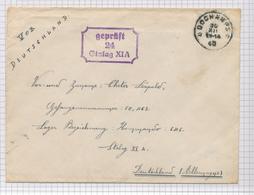 393/29 - Enveloppe En Franchise Cachet RELAIS à Etoiles DOCHAMPS 1940 Vers Prisonnier Belge Stalag XIA En Allemagne - Poststempels/ Marcofilie