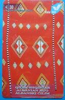 Kosovo Prepaid Phonecard, 30 Euro. Operator VALA, *Old Carpet*, Serial # 09......Second Edition - Kosovo