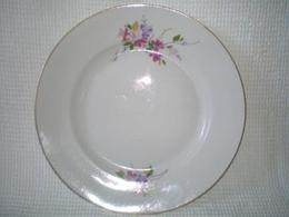 USSR Dessert Plate - Dulevsky Porcelain Factory - 1990 - Russia - Tableware - Flowers - Vintage - A Rarity - Beautiful. - Céramiques