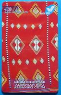Kosovo Prepaid Phonecard, 30 Euro. Operator VALA, *Old Carpet*, Serial # 09......Third Edition - Kosovo