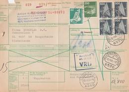 Paketkarte Hochstetten - Hoogerheide (Niederlande) Kein Steuer 12/9/1984 - Brieven En Documenten