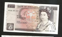 UNITED KINGDOM - BANK Of ENGLAND - 10 POUND (Chief Cashier M. Gill / 1988 - 1991) - F. Nightingale - 1952-… : Elizabeth II